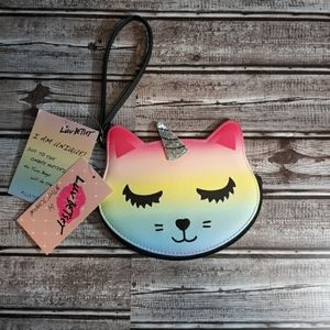 Betsey Johnson Rainbow Kitty Coin Purse